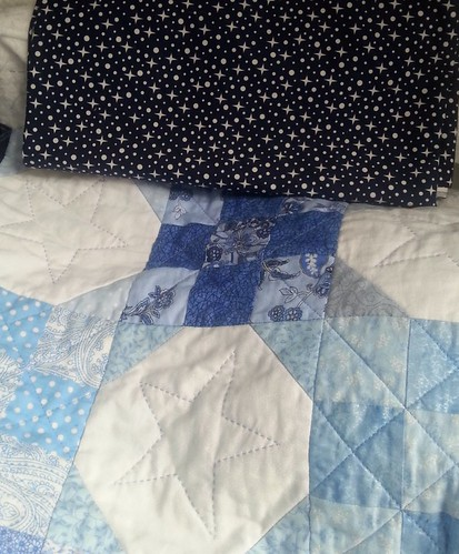Binding for the blue and white quilt, from Simply Solids.
