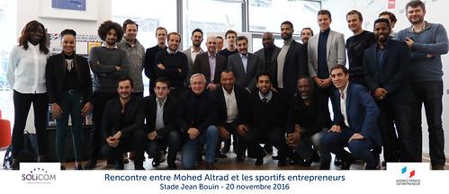 Rencontre entre Mohed Altrad et les sportifs-entrepreneurs