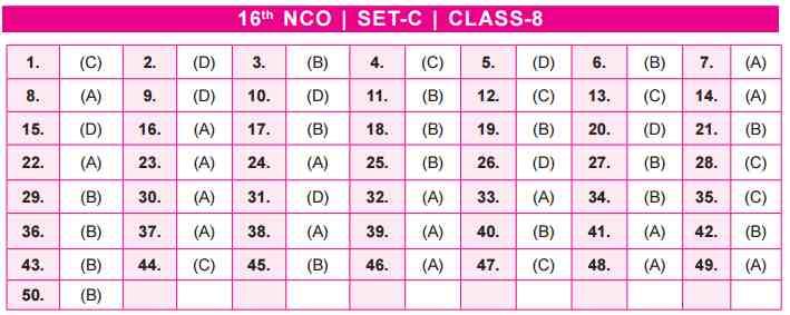 NCO Answer Keys class 8