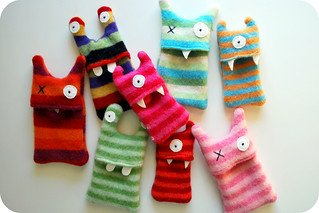 From Kids Crafternoon Sewing: Monster I Pod Cozies2 | by Beeper Bebe
