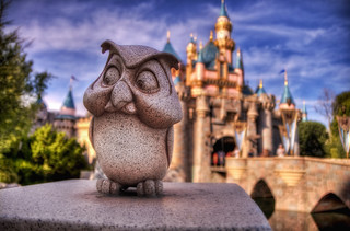 Disneyland Owl and Sleeping Beauty's Castle HDR-3983 | by adamcfink