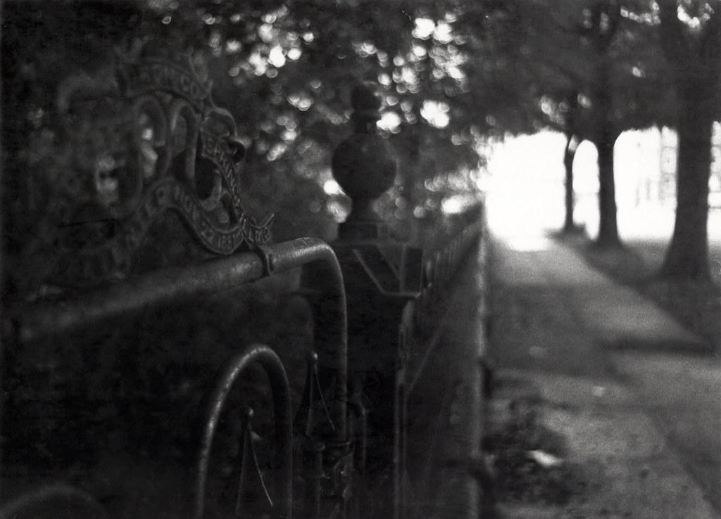 Late 1970s, gate at Sacred Heart, Augusta, GA