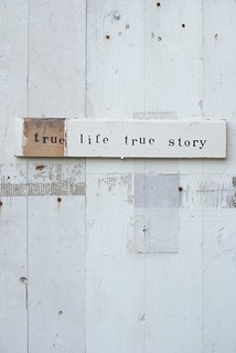 wood & word sign [true life true story] | by wood & wool stool