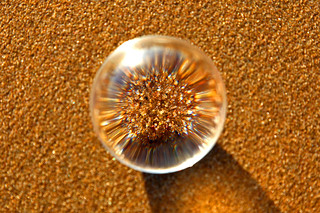 Focussing on the sand, Scheveningen  - The Netherlands / Crystal ball | by kees straver (will be back online soon friends)