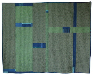 """Army Blues"" Quilted Throw - Front View 