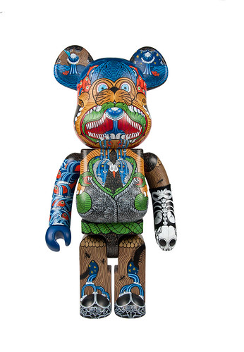 'Intents' Custom Be@rbrick for 'Icons' Group Show, Leeds, UK | by Hugh Rose