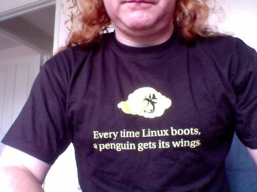 Every time Linux boots - a penguin gets its wings