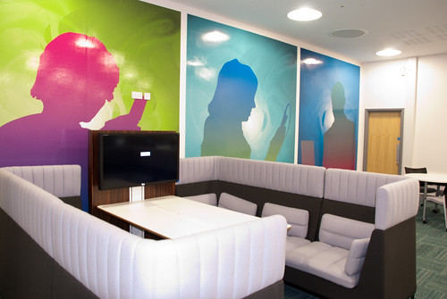 Haven Unit and feature artwork, Fountains Learning Centre, York St John University | by jisc_infonet