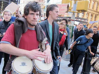 Occupy Wall Street: Day 19, March to Foley Square, Bongos | by Scoboco