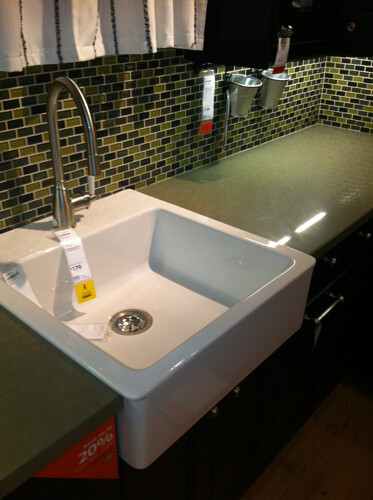 Ikea domsjo farmhouse sink i love this modern version of for Ikea kitchen sink domsjo