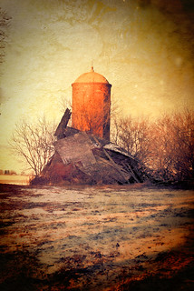Brick Silo And Ruins | by Dave Linscheid