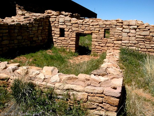 Old walls at Lowery Pueblo, Colorado