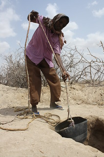 Cash for work in Wajir: Hussein Hassan helps prepare the hole for a latrine | by Oxfam International
