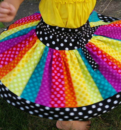 The Carousel Twirl Skirt™ (Rainbow Dots) | by BeneathTheRowanTree