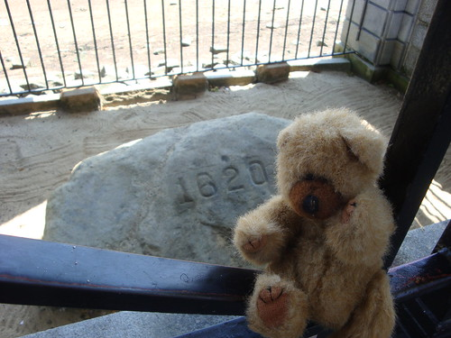LB and the real Plymouth Rock | by Canton Public Library (MI)