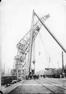 New Floating Crane at Harland & Wolff Shipyard, Belfast | by National Library of Ireland on The Commons