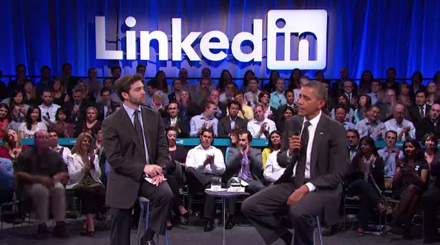 President Obama at LinkedIn for America Jobs Act Town Hall