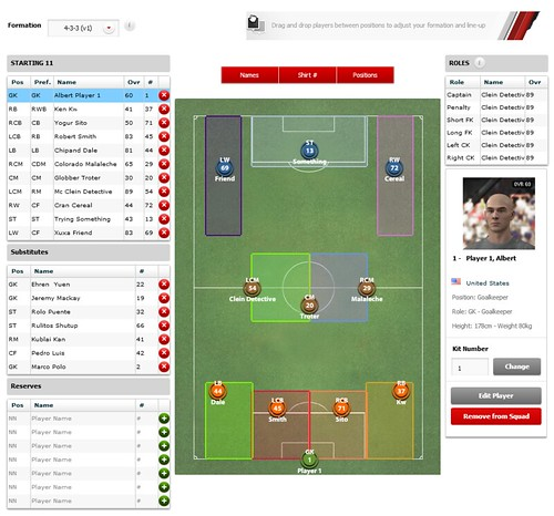 FIFA 12 Creation Centre: Set Formation | by EA SPORTS FIFA
