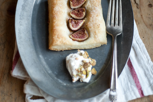 fig tarts with pistachio whipped cream | by TheSophisticatedGourmet