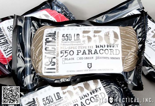ITS 550 Paracord (Type III) Vacuum Sealed | by ITS Tactical