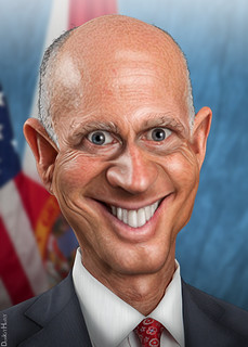 Rick Scott - Caricature | by DonkeyHotey