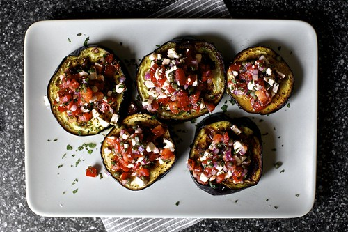 roasted eggplant with tomatoes and mint | Flickr - Photo ...