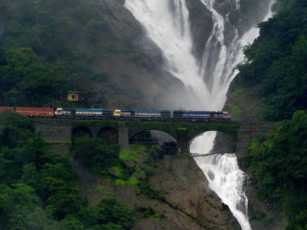 Passing the Dudhsagar