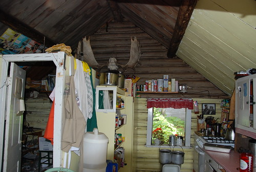 Inside the Bangsund cabin -- Peterson/MTU wolf moose study program - Isle Royale National Park, Michigan | by Corvair Owner