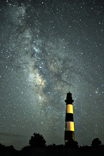 Bodie Island Light with Milky Way | by icecubephoto - trying to catch up