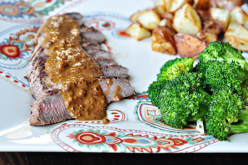 Pan Seared Steak with Mustard Cream Sauce | by Courtney | Cook Like a Champion