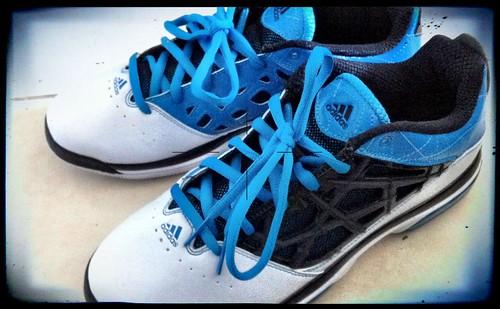 Blue White Adidas Tubular Shoes Shadow