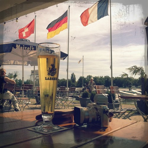 Beer by the river, Basel Switzerland Germany France | by Patrick Ng