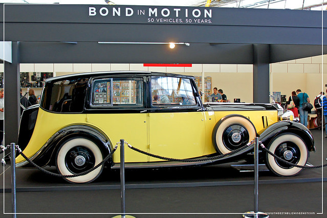 Empire BIG SCREEN : Bond in Motion the cars of James Bond Exhibition - Auric Goldfinger's (Gert Frobe) 1937 Rolls Royce Phantom III from Goldfinger