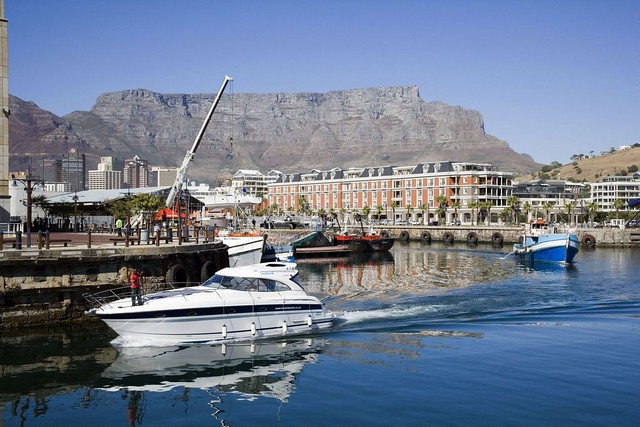 Harbour with Table Mountain in the background