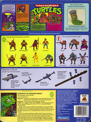 TEENAGE MUTANT NINJA TURTLES :: GENGHIS FROG .. card backer ii (( 1989 )) | by tOkKa