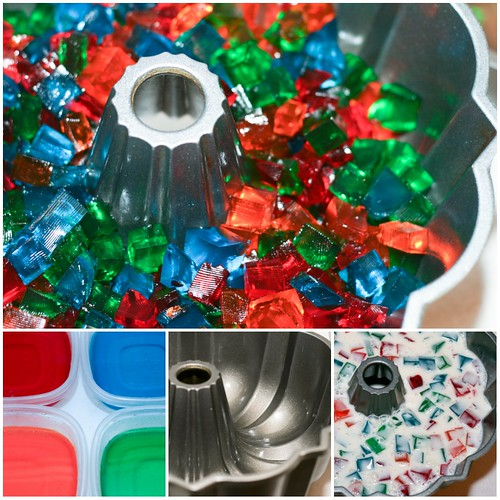 Broken Glass Jello Bundt collage | by Food Librarian