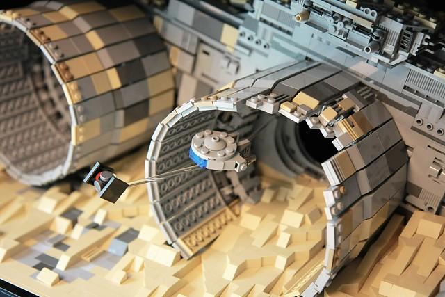 MOC Star Wars 7 : poursuite sur Jakku
