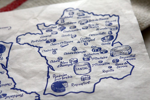cheese map of France | by David Lebovitz
