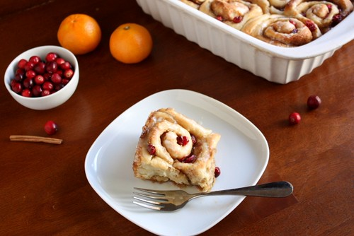 Cranberry Orange Cinnamon Rolls | by Completely Delicious