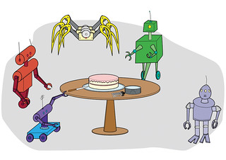 Cake and Robots: Party! | by jfeathersmith