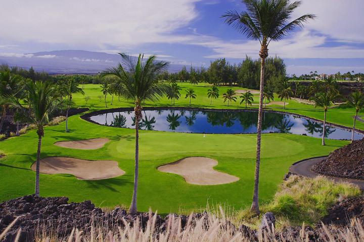 The Waikoloa Beach golf course at Hilton Waikoloa Village
