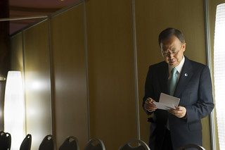 Secretary-General during Busy Day at Durban Conference | by United Nations Photo