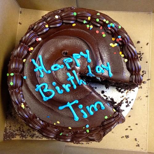 Happy Birthday Tim Chocolate Cake Lynn Friedman Flickr
