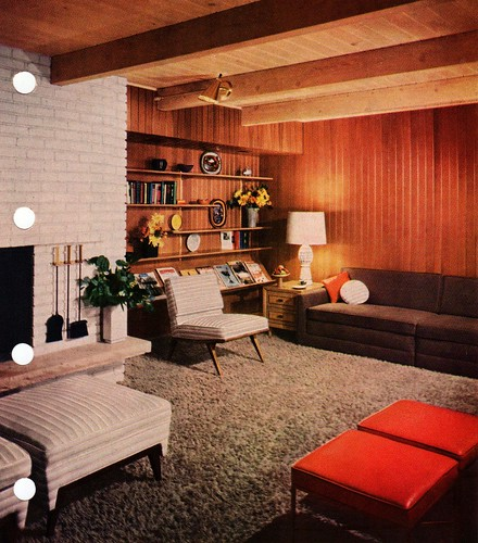 Mid century modern living room flickr photo sharing for Interior design 70s house