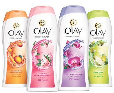 Olay Body wash and Oral-B toothbrushes