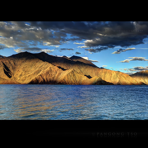 The Evening Shimmers at Pangong Lake | by CoSurvivor