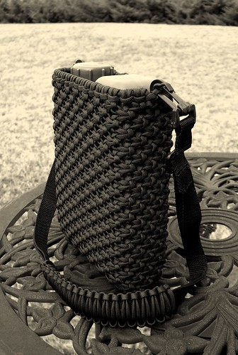 Paracord canteen cover, finally finished... | by Stormdrane