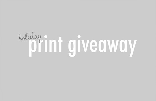 Print Giveaway | by Molly Lichten