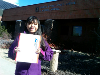 Jaime Lynn Butler at the U.S. Post Office in Flagstaff, Arizona | by OurChildrensTrust