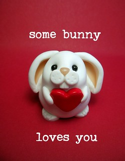 'some bunny loves you' card | by QuernusCrafts
